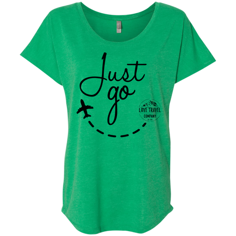 Just Go | Ladies' Triblend Dolman Sleeve
