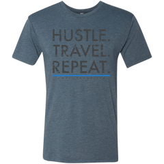 Hustle. Travel. Repeat. | Men's Premium Triblend Tee