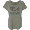 Image of Hustle. Travel. Repeat. | Ladies' Premium Triblend Dolman Sleeve