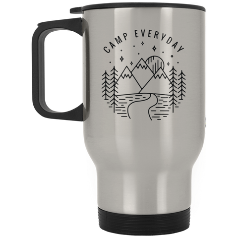 Camp Everyday Silver Stainless Travel Mug