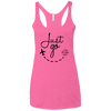 Image of Just Go | Ladies' Triblend Racerback Tank