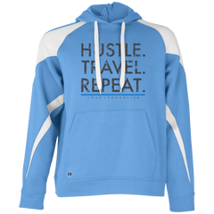 Hustle. Travel. Repeat Colorblock Hoodie