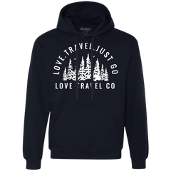 Love. Travel. Just Go. (Unisex) Pullover Fleece Sweatshirt