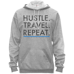 Hustle. Travel. Repeat Hooded Fleece