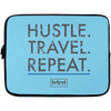 Image of Hustle. Travel. Repeat. Laptop Sleeve | 13 inch