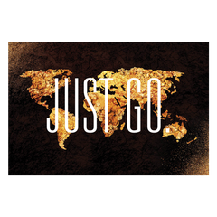 Just Go. | Landscape Travel Canvas