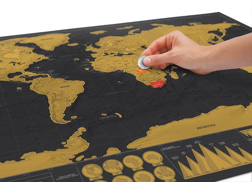 Scratch off world map for world travelers deluxe edition love scratch off world map for world travelers gumiabroncs Choice Image