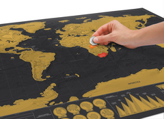 Scratch Off World Map for World Travelers