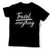 Image of Travel Over Anything Tee (Unisex) | Teal + Black