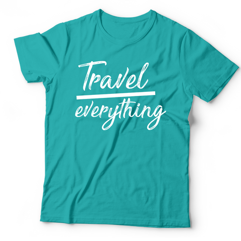 Travel Over Anything Tee (Unisex) | Teal + Black