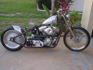 John from Florida makes this beautiful Bobber with a MotoXcycle MXC custom bobber frame.