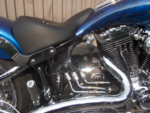 Round oil tank for Harley-Davidson Rocker