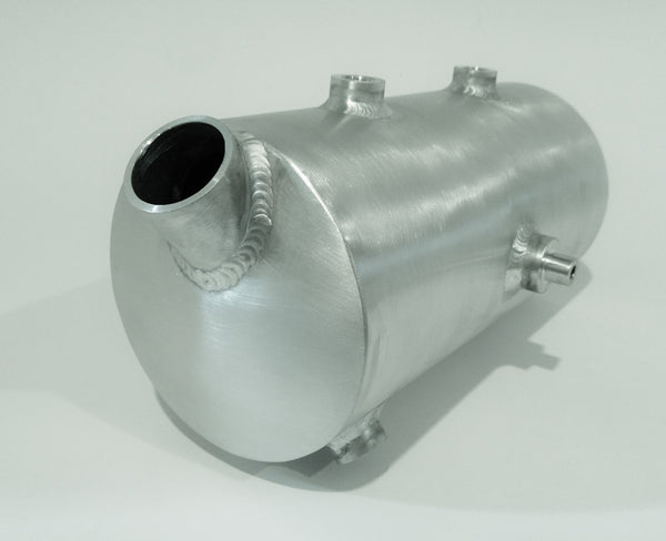 5 Inch round side fill oil tank with spin on filter receptacle