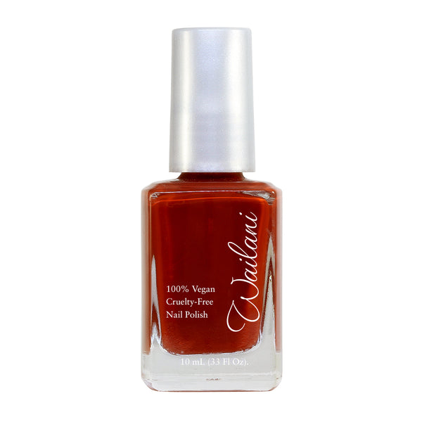 Brick Red Nail polish from Wailani - Non Toxic, Vegan, Cruelty-Free Cosmetics