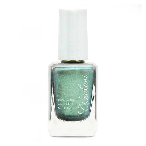 Cruelty-Free Nail Polish -  Wailani Nail Polish - Non Toxic & Vegan -  Metallic Blue Green Patina