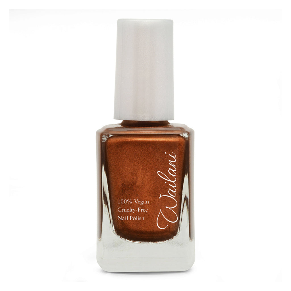 Burnt Orange Nail Polish - Cruelty Free Nail Polish - Wailani 10 Free Non Toxic - Energy