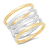 Handmade Gold & Silver Stacking Ring Set by JYLA Jewelry