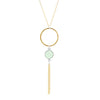 Intrigue Handmade Tassel Necklace with Aqua Chalcedony by JYLA Jewelry