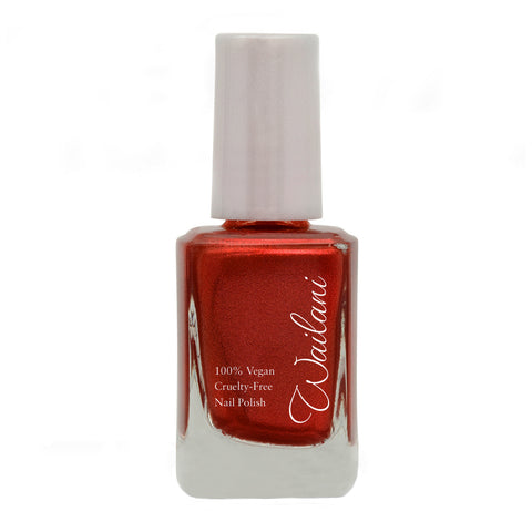 Cruelty-Free Nail Polish -  Wailani Nail Polish - Non Toxic & Vegan -  Metallic Red