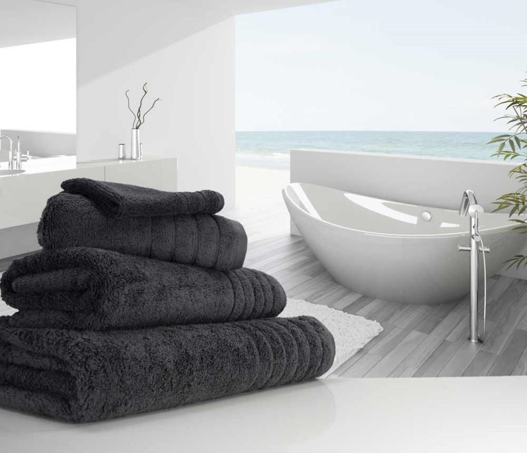 Luxury Cotton Bath Towel Charcoal