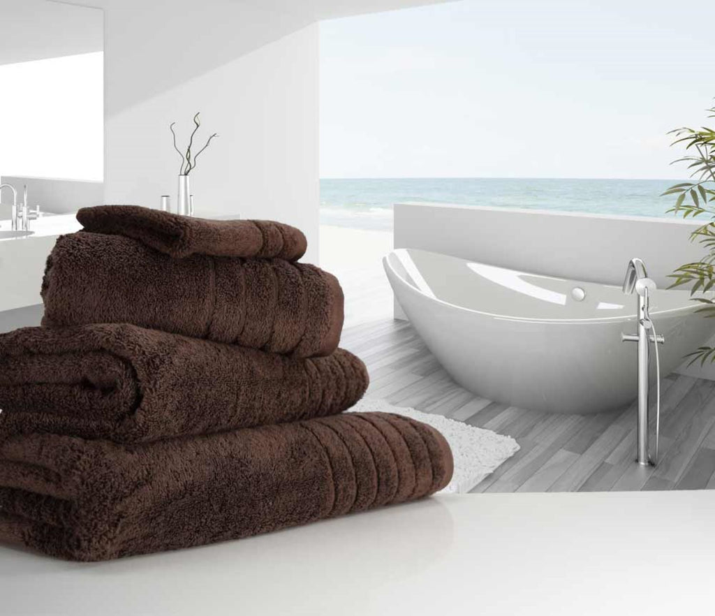 Luxury Cotton Bath Sheet Chocolate