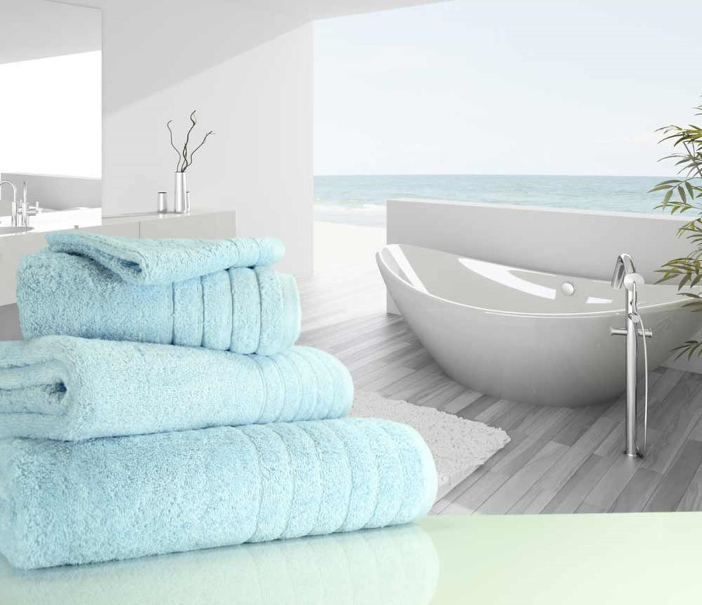 Luxury Cotton Bath Towel Duck Egg Blue