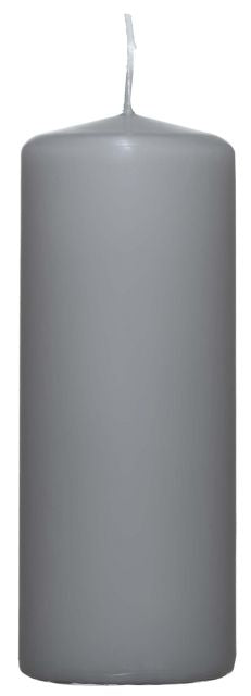 Grey Pillar Candle - 60mm x 150mm - Kimi's Beauty Shop