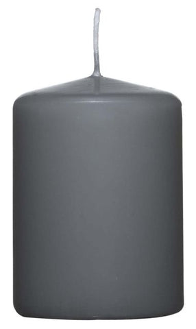 Grey Pillar Candle - 60mm x 80mm
