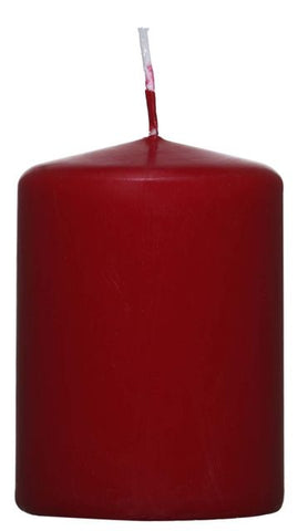Red Pillar Candle - 60mm x 80mm