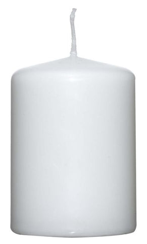 White Pillar Candle - 60mm x 80mm