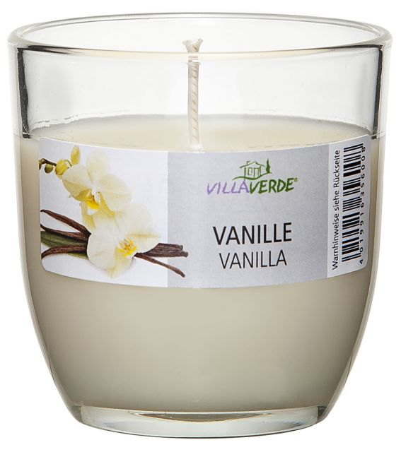 Vanilla Scented Candle in a Glass - Kimi's Beauty Shop