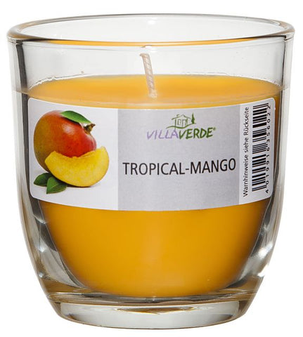 Tropical Mango Scented Candle in a Glass - Kimi's Beauty Shop