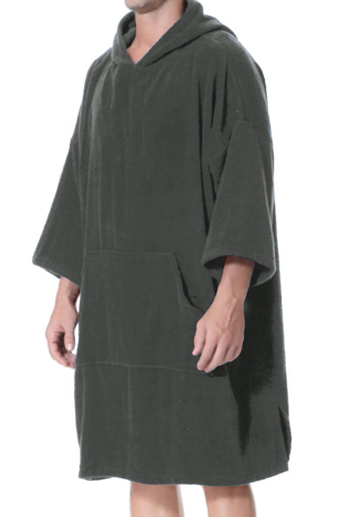 Dark Grey Adult Changing Robe - Length 110 cm