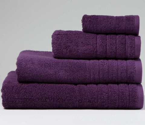 Luxury Cotton Hand Towel Aubergine