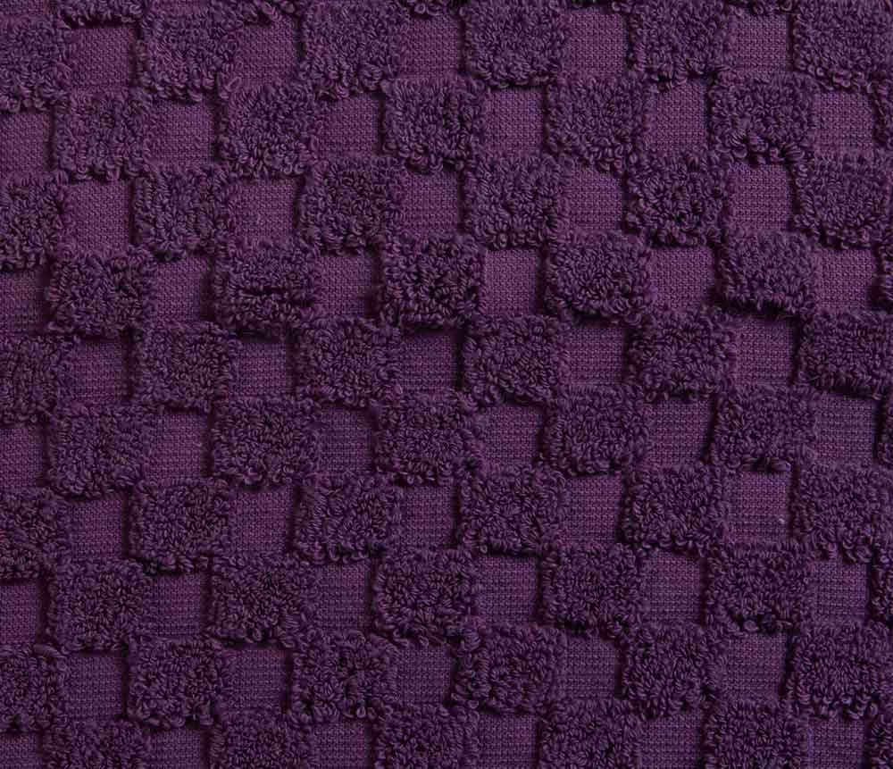 Cotton Bath Mat - Aubergine