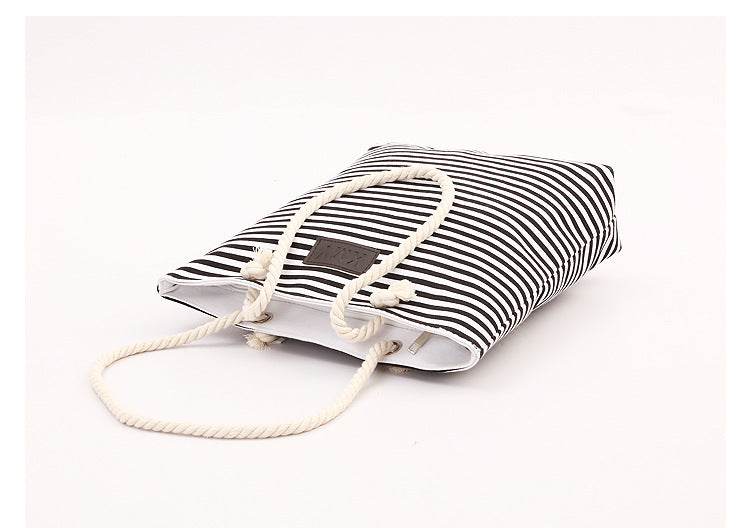 Summer Beach Bag Red Stripes - Kimi's Beauty Shop