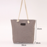 Summer Beach Bag Blue Stripes