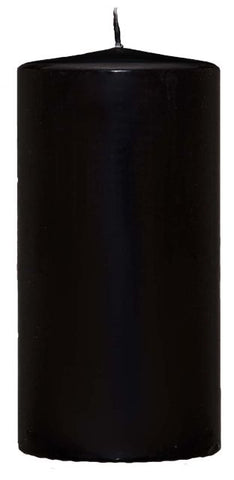 Pillar Candle - Black - 60mm x 120mm