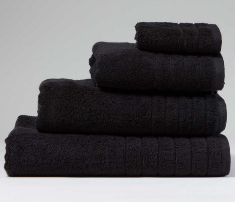 Luxury Cotton Bath Towel Black