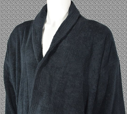 400gsm Shalw Collar Bathrobe in Black