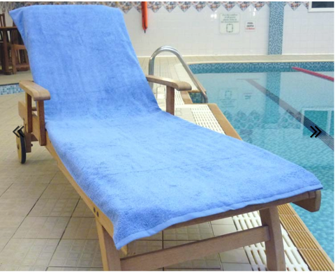 Sun Lounger Towel Med Blue - Kimi's Beauty Shop