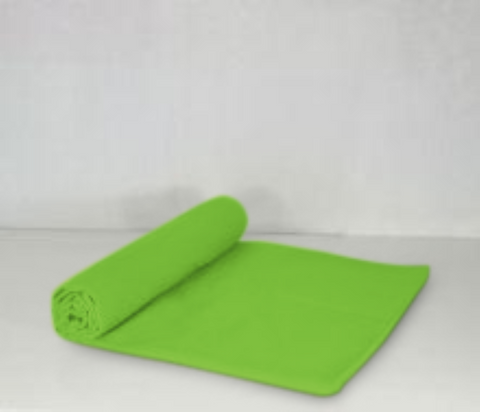 Microfibre Beach Towel Green 80cm x 140cm