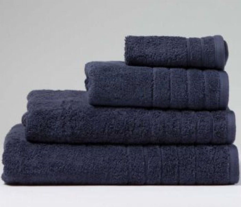 Luxury Cotton Hand Towel Dark Blue