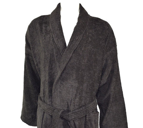 400gsm Shalw Collar Bathrobe in Dark Chocolate