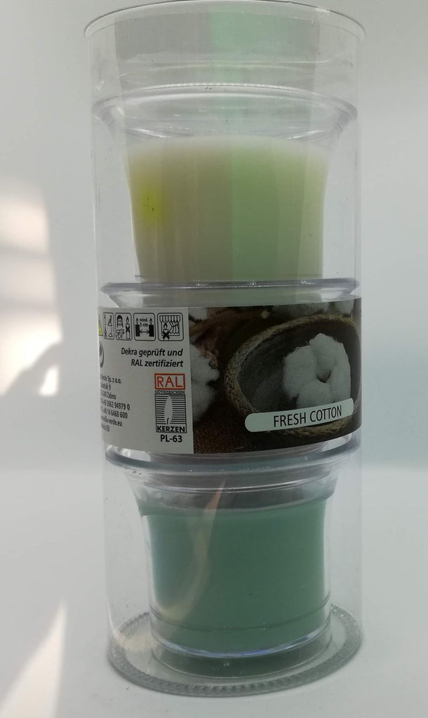 Fresh Cotton Scented Candles in Cup, Set of 3 in a Tube - Kimi's Beauty Shop