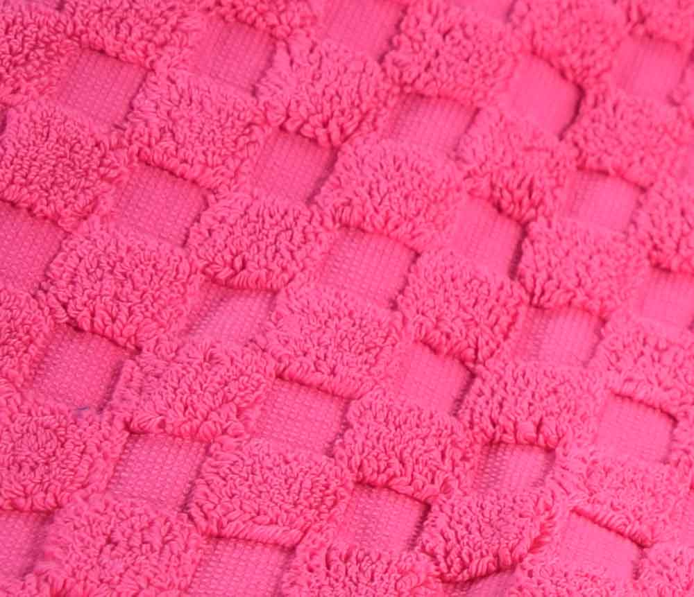 Cotton Bath Mat - Hot Pink