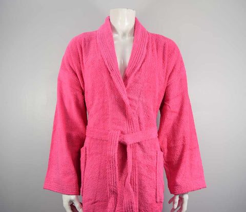 400gsm Shalw Collar Bathrobe in Hot Pink