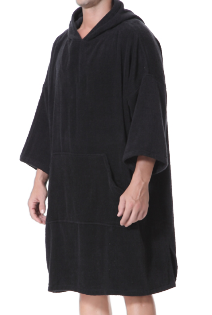 Black Adult Changing Robe - Length 110 cm