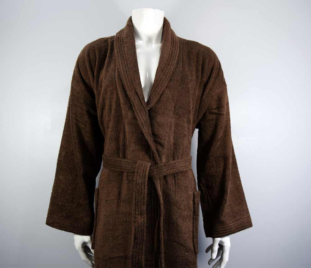 400gsm Shalw Collar Bathrobe in Light Chocolate - Kimi's Beauty Shop