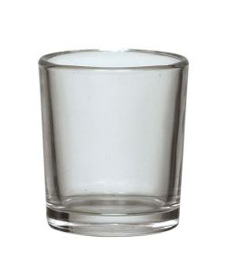 Tea Light Glass - Votive glass - 5.6cm x 6.5cm clear